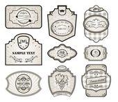 Zestaw zmienności retro starodawny etykiety — Wektor stockowy
