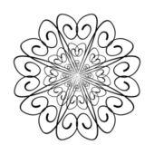 設計図は装飾的なパターン旋回 — ストックベクタ