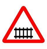 Illustratie van weg teken railroad — Stockvector