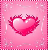 Romantic stamp for Valentine's day — Stock Vector