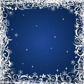 Grunge Christmas frame — Stock Vector