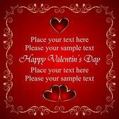 Valentijn wenskaart met hart — Stockvector