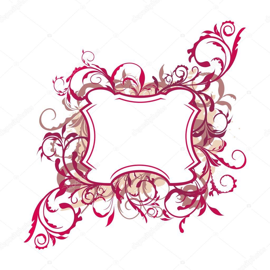 ... the floral decor element for design and border - Stock Illustration