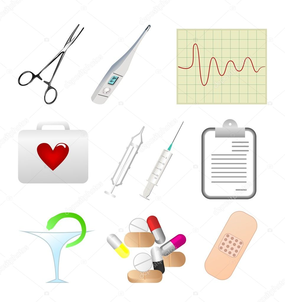Collection of medical themed icons. Vector — Stock Vector #5721605