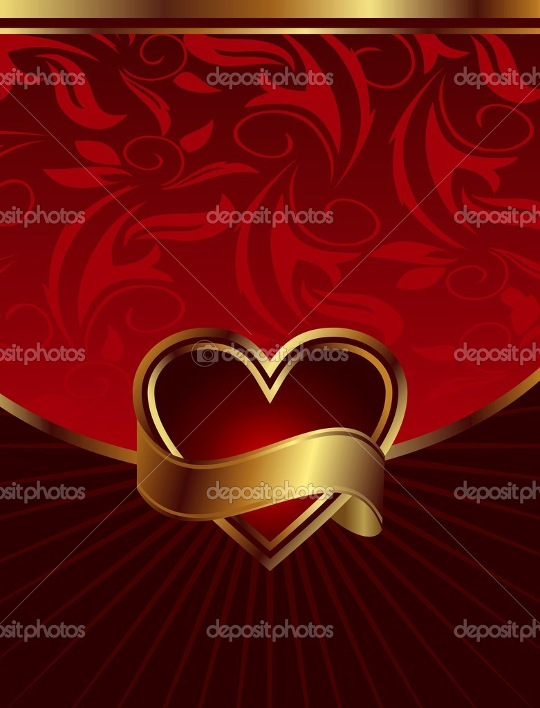 Illustration background for design of packing Saint Valentine's Day - vector  Stock Vector #5721958
