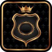 Elegant gold heraldry frame — Stock Vector