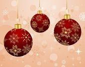 Fondo de navidad con bolas de set — Vector de stock