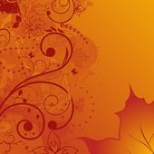 Grunge autumn background, element for design — Stock Vector
