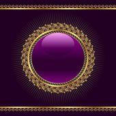Golden ornamental medallion for design — Stock Vector