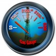 Gas Gauge — Stock Photo