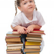Little girl with books — Stock Photo #5791232