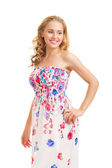 Young woman in a sundress — Stock Photo