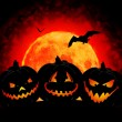 Halloween pumpkin background — Stock Photo #6708891