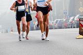 Running in city marathon — Stock Photo