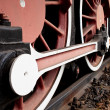 Stock Photo: Close-up Detail of Retro Steam Train Wheels