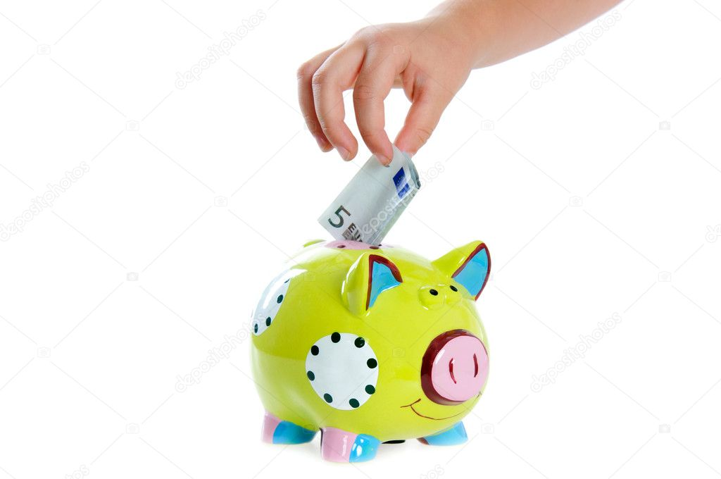 Piggy bank on the white background. — Stock Photo #6335538