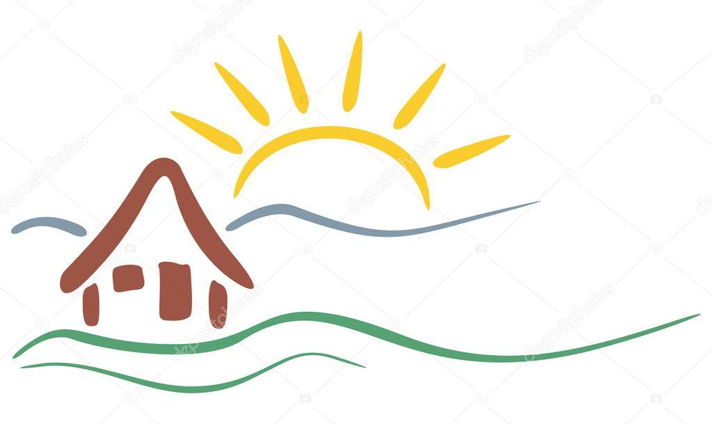 Sun And Mountain Restaurant Logo | Joy Studio Design Gallery - Best ...