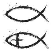 Christian balık — Stok Vektör