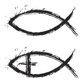 Peixe cristão — Vetorial Stock