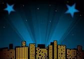 Estrellas en el cielo — Vector de stock