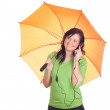 Beautiful girl with umbrella — Stock Photo #5381686