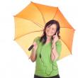 Beautiful girl with umbrella — Stock Photo