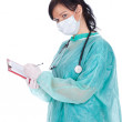 Royalty-Free Stock Photo: Female doctor with clipboard