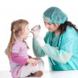 Little girl at doctor — Stock Photo #5381837