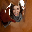 Furious young woman — Stock Photo
