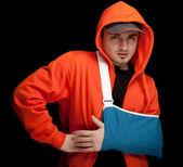 壊れた手を持つ男 — ストック写真