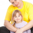 Little girl with mother — Stock Photo #5409056