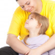 Little girl with mother — Stock Photo #5409065