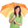 Beautiful girl with umbrella — Stock Photo #5464877
