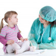 Little girl at doctor — Stock Photo
