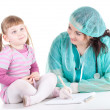 Little girl at doctor — Stock Photo #5464949