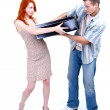 Stock Photo: Divorce - fight about thing