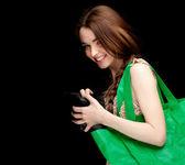 Kobieta i torba na zakupy — Zdjęcie stockowe