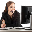 Royalty-Free Stock Photo: Young callcenter agent lady