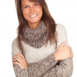 Woman in grey sweater — Stock Photo #5629700