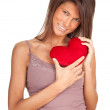 Young woman with heart — Stock Photo #5629705
