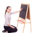Stock Photo: Young preschool teacher