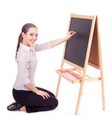 Young preschool teacher — Stock Photo
