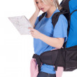 Female tourist with map — Stock Photo #6129147