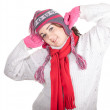 Fat woman in winter hat — Stock Photo #6559805
