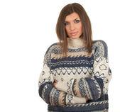 Tankfull ung kvinna i tröja — Stockfoto