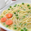 Chicken noodle soup — 图库照片