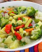 Diet vegetable soup — Stock Photo