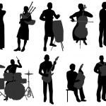 Musicians — Stock Vector #5398883