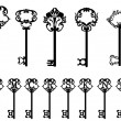 Collection of keys - Stock Vector