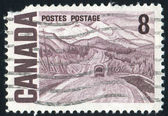 Stamp printed by Canada — Stockfoto